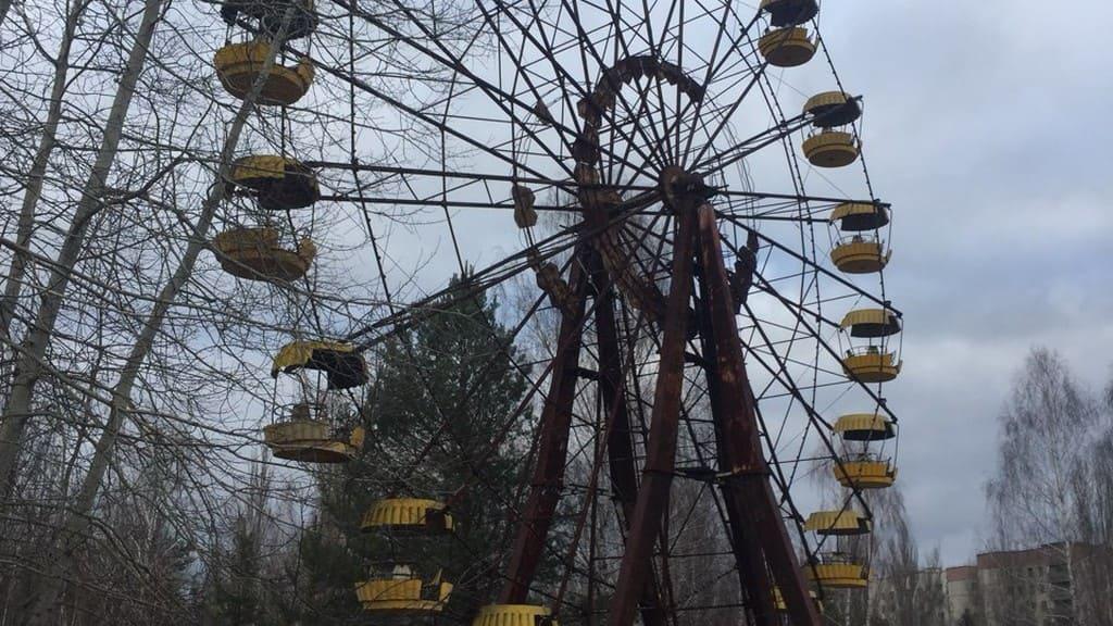 Zabytki Czarnobyla: park rozrywki w Prypeci i diabelski młyn
