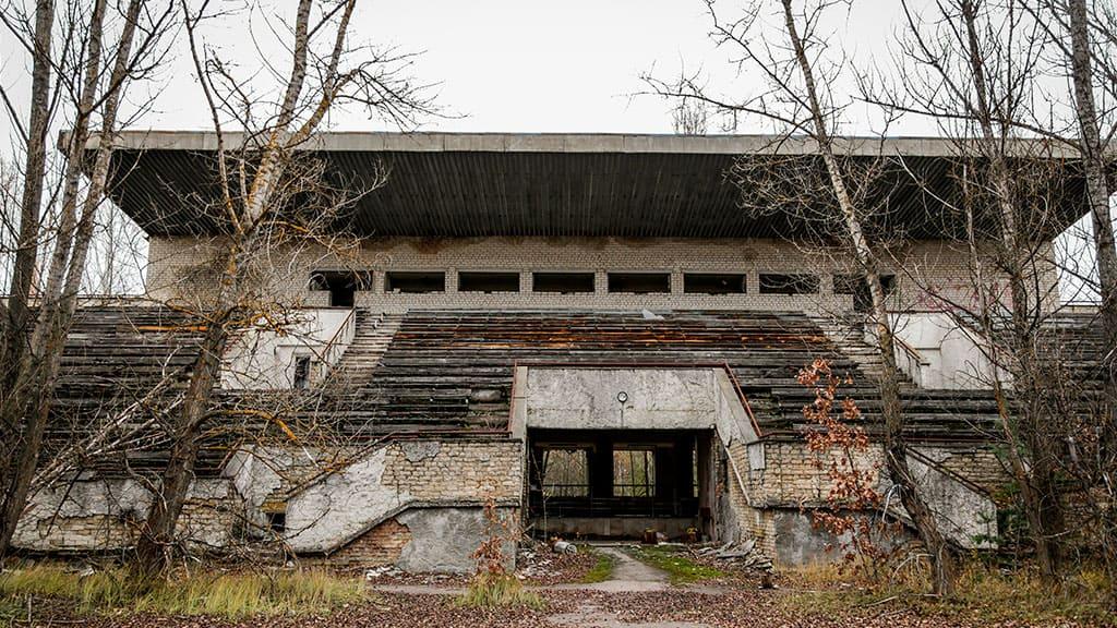 "Martwy stadion ""Avangard"" w Prypeci"
