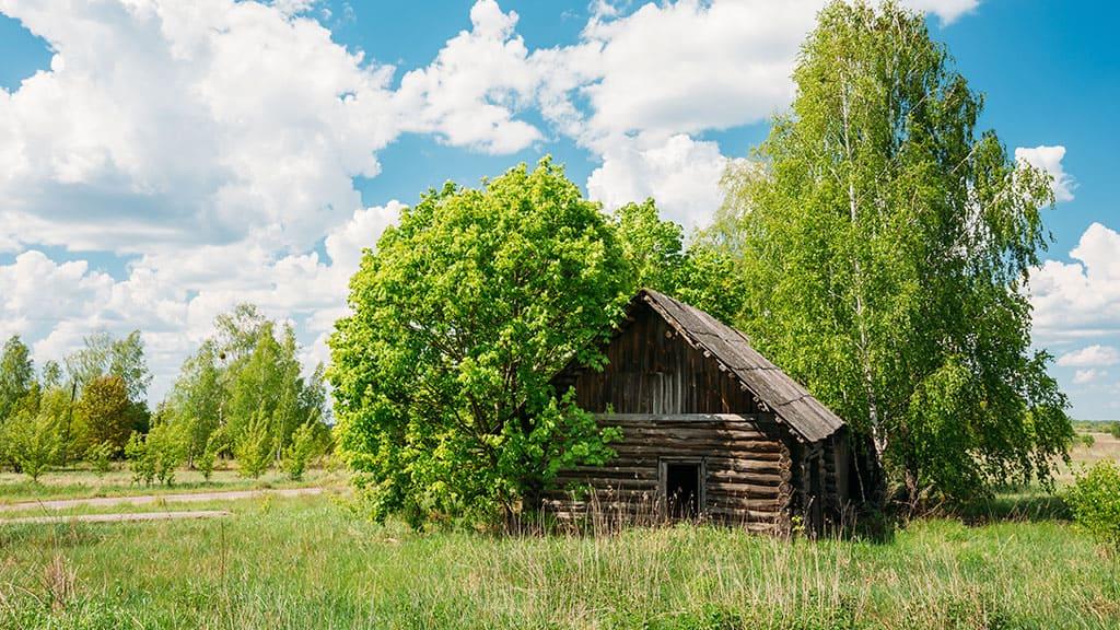 Opuszczone wioski strefy wykluczenia w Czarnobylu